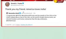 America Loves India Donald Trump Thanks PM Modi Video