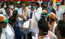 T Congress Leaders Protest Against TS Govt over Power Charges Hike