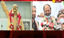 Uttam Kumar Reddy Tribute YS Rajasekhara Reddy Statue In Panjagutta Video