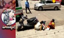 Young Man Demise on Road At ECIL Chowrasta In Hyderabad Video