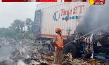 Transport container catches fire in medak