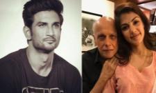 Rhea Chakraborty Called Mahesh Bhatt 16 Times In 1 year - Sakshi