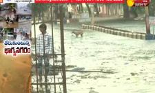 Flood Water In Several Places Across Hyderabad