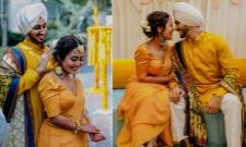 Neha Kakkar And Rohanpreet Singh Haldi Ceremony Pics - Sakshi