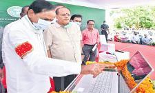 k Chandrashekar Rao Launched Dharani Portal At Muduchintalapalli - Sakshi