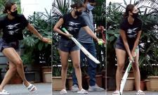 Pics Of Malaika Arora Playing Cricket With Son Arhaan - Sakshi
