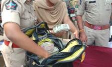 Police Found 50 Lakh Rupees In Reporter Bag In Garuda Bus - Sakshi