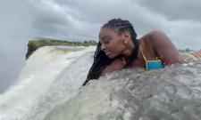 Model Dangerous Bikini Shoot in Victoria Falls Video Gone Viral
