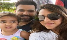 IPL 2021: Rohit Sharmas Wife Ritika Sajdeh Shares Selfie With Her Two Babies - Sakshi