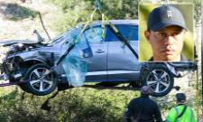 Tigerwoods Almost Double Speed Limit Before Crashing In Terrific Accident - Sakshi