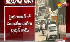 lockdown effect heavy traffic jam in hyderabad