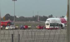 Indigo Flight Emergency Landing At Gannavaram Airport