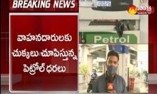 Petrol crosses century mark in hyderabad