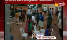 Attack On Police Offecers And Damaged Vehicles In Nalgonda