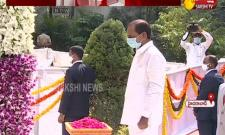 Telangana Formation Day: CM KCR Pays Tribute To Martyrs At Gun Park