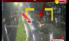 Cyberabad Traffic Police Shares CCTV Footage Of Hitech City Accident