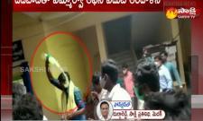 farmers protest in shivampet mro office