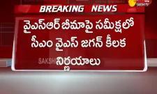 AP CM YS Jagan Review Meeting On YSR Bima Scheme At Tadepalli