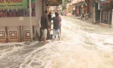Rain Water In Several Colonies Of Hyderabad