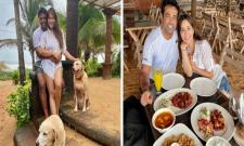 Kim Sharma And Leander Paes Are Chilling At Goa - Sakshi