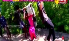 Volunteers Carrying Pregnant Woman in a Dolly: Vijayanagaram