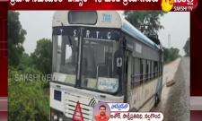 rtc bus escape from major accident in nalgonda