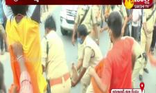Adilabad: ABVP Protest against Minister Indira Reddy
