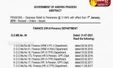 Orders Issued On DA Increase Of Govt Pensioners In AP
