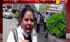 Hyderabad: Contract Nurses Protest At Pragati Bhavan