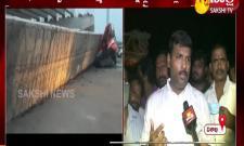 flyover pillar collapsed in vishakapatnam