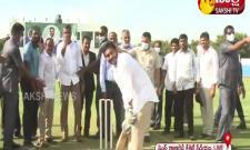 CM YS Jagan Plays Cricket On YS Raja Reddy Cricket Stadium