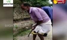 Snake Attack On Old Man In Karimnagar District