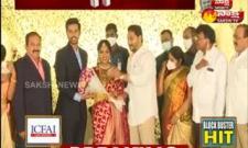 Cm Jagan Attends Avanigadda MLA Simhadri Ramesh Son Wedding REception