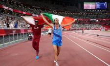 Qatar Barshim, Italy Tamberi Share Olympic High Jump Gold - Sakshi