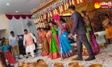 MP Maloth Kavitha Dance For Bullet Bandi Song In Wedding Ceremony