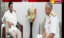 Eastern Navy Flag Officer Ajendra Bahadursingh Met CM YS Jagan Amaravati