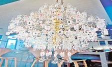 Lara Wies From Colorado Makes chandelier From Covid Vaccine Bottles - Sakshi