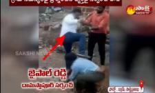 Sarpanch Brutally Attack On Men In Rangareddy