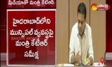 Hyderabad: Minister Ktr Meeting On Municipal Departments