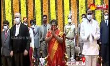 TS High Court CJ Satish Chandra Sharma Was Sworn in