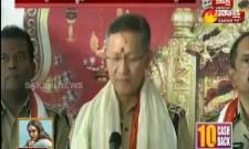 DGP Gautam Sawang Visiting Kanakadurga Temple