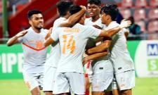 Indian Team Reaches Final Of South Asian Football Tournament - Sakshi