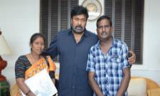 Chiranjeevi Helps Out Ailing Die Hard Fan Venkat - Sakshi