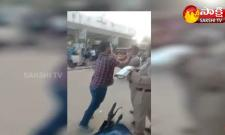 Public Protest With Gas Cylinder Over Bathukamma Festival