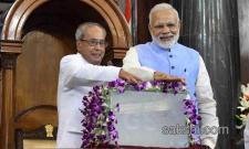 GST Launch President Pranab Mukherjee and PM Modi