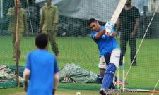 india team practice session in Bangalore