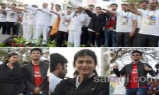 Hero Nikhil And hebah patel Participates In Tana 5k Walk At vijayawada - Sakshi