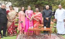 Sania Mirza at the reception hosted by President Shri Ramnath Kovind at Rashtrapati Nilayam in Hyd - Sakshi