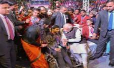 Prime Minister Narendra Modi visits an exhibition ahead of his interactive session 'Pariksha Par Charcha 2.0', in New Delhi Photo Gallery - Sakshi