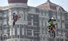 bike stunts at Gateway of India during the Red Bull FMX JAM event in Mumbai Photo Gallery - Sakshi